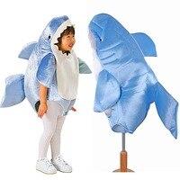 Çocuklar Köpekbalığı Maskot Kostüm Bebek Köpekbalığı Romper Elbise Up için Şiddetli Deniz Hayvan Tulum Fantezi Elbise Cadılar Bayramı Kostümleri Çocuk