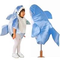 Kids Shark Mascot Costume Baby Shark Romper Dress Up Fierce Sea Animal Jumpsuit Fancy Dress Halloween Costumes for Children