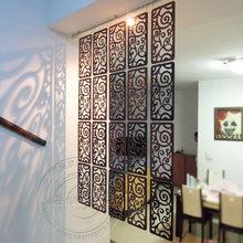 39*19CM tallado pantalla habitación colgando pantalla partición de la pared de entrada de partición de oficina de pantalla colgante pantalla divisoria de sala