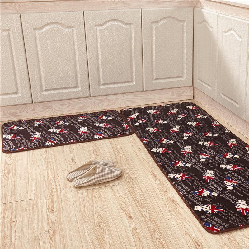 2pcs/set 40*60+40*120cm Wash Water Antiskid Mat kitchen Bathroom Door Mat All Kinds Of Animal Pattern Antiskid Mat Machine Wash