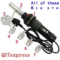 220V 450 Degree Celsius 450W LCD Soldering Station Hot Air Gun ICs For BGA Nozzle QST