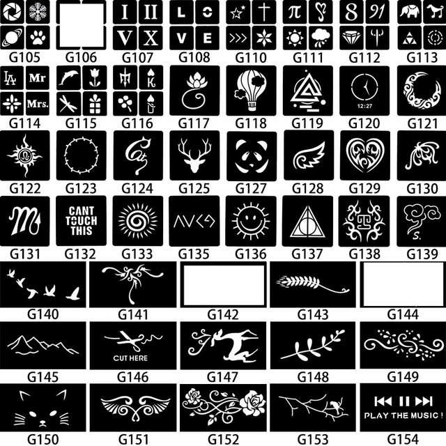 Online Shop Star Pentagram Waterproof Henna Tattoo Stencils Women