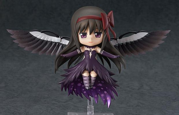 Q Cute Anime Puella Magi Madoka Magica Akemi Homura Wing Dress GOD Evil Version 10CM PVC Action Figure Doll Toys