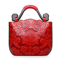 Sky fantasy Chinese style PU embossed classic cross body women handbag vogue popular tote cute youth girls casual fashion tote