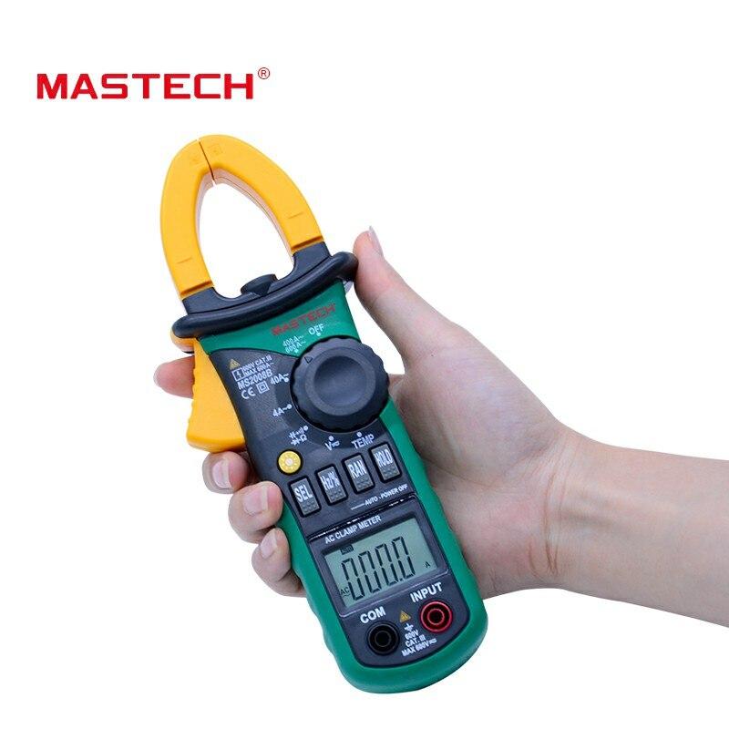 D'origine MASTECH MS2008B Auto Manuel Gamme Numérique Pince AC Volt Actuelle Res Cap Temp Freq Compteur shiping Libre