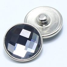 hot sale 18mm snaps charms jewelry gray faceted crystal snaps fit DIY snaps bracelets charms jewelry GS1111016(China)