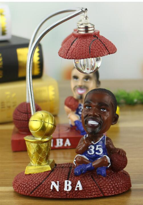 Creative NBA basketball star resin LED star small night lamp new unique personality decorative crafts statue home decoration