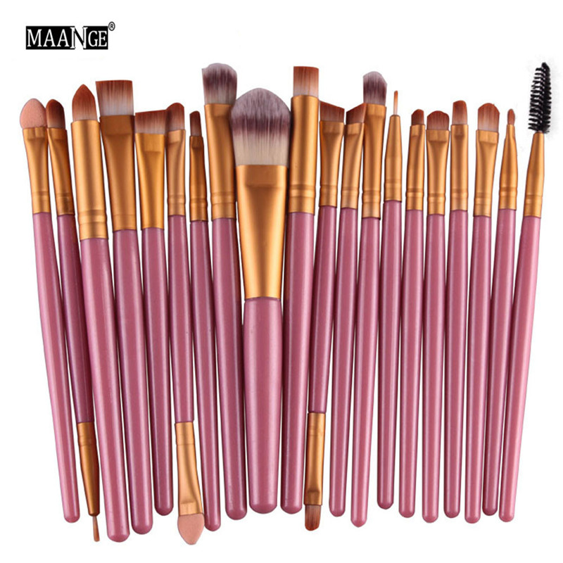MAANGE Makeup Brushes Professional 20pcs/set Make up Brush Set Foundation Powder Eyeshadow Blush Eyebrow Lip pincel maquiagem pro 15pcs tz makeup brushes set powder foundation blush eyeshadow eyebrow face brush pincel maquiagem cosmetics kits with bag