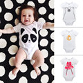 New style Baby Boy Girl Clothes Short Sleeve Cartoon Print 2016 Summer Baby Romper Newborn Brand Jumpsuits Baby Rompers