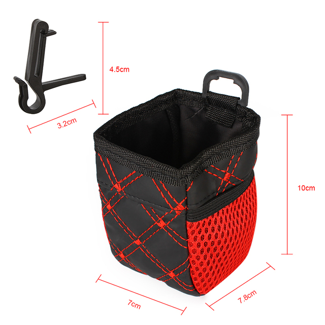 Universal Red Grid Net Car Outlet Storage Bag Phone Holder Pocket Organizer Car Styling Auto Assessories 3