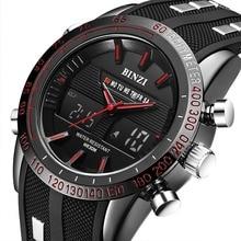BINZI Reloj Deportivo reloj Electrónico de Los Hombres Militares de Lujo Masculino Relojes LED de Los Hombres Reloj de Marca Informal Reloj de Pulsera Relogio masculino