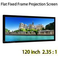 Fixed Frame Screen 120inch 2.35:1 Flat DIY Wall Mount Projection Screen 160 Degree View Angle