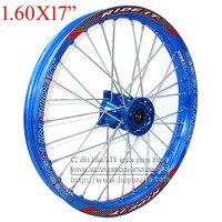 Blue 1.60x 17 inch Front Rims CNC hub Aluminum Alloy Wheel Rims 1.60 x 17 KLX CRF KTM Kayo Apollo BSE off road Bike Motorcycle
