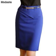Curta XS ハイウエスト女性ブルーブラック 女性の鉛筆のスカートフォーマル事務女性スリムボディコンスカート