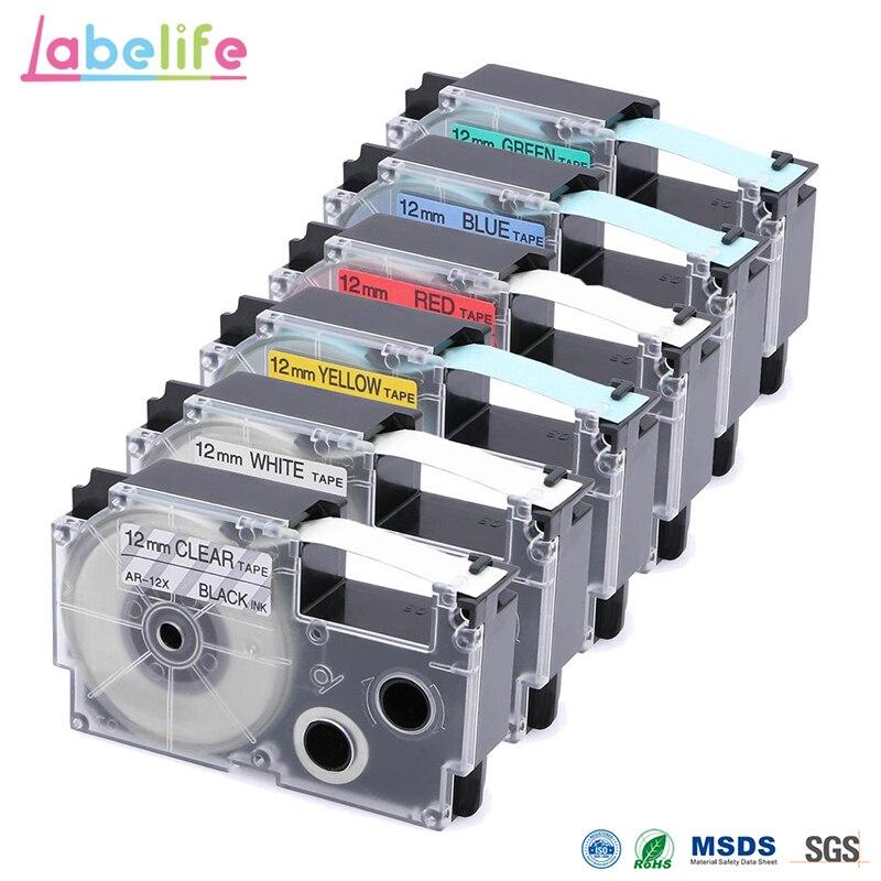 GüNstig Einkaufen Labelife Label Band Xr-12we 12mm * 8 Mt Kompatibel Für Casio Kl-170 Label Drucker (xr-12x Xr-12we Xr-12rd Xr-12bu Xr-12yw Xr-12gn)