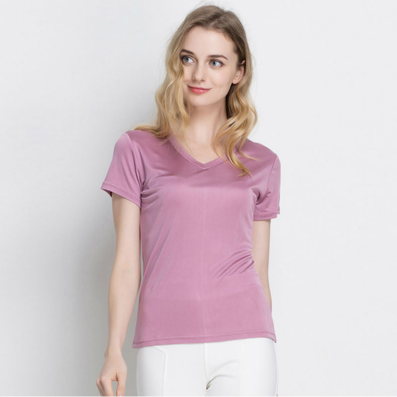 Silk Women T Shirt 100 Natural Silk Basic Shirt Short