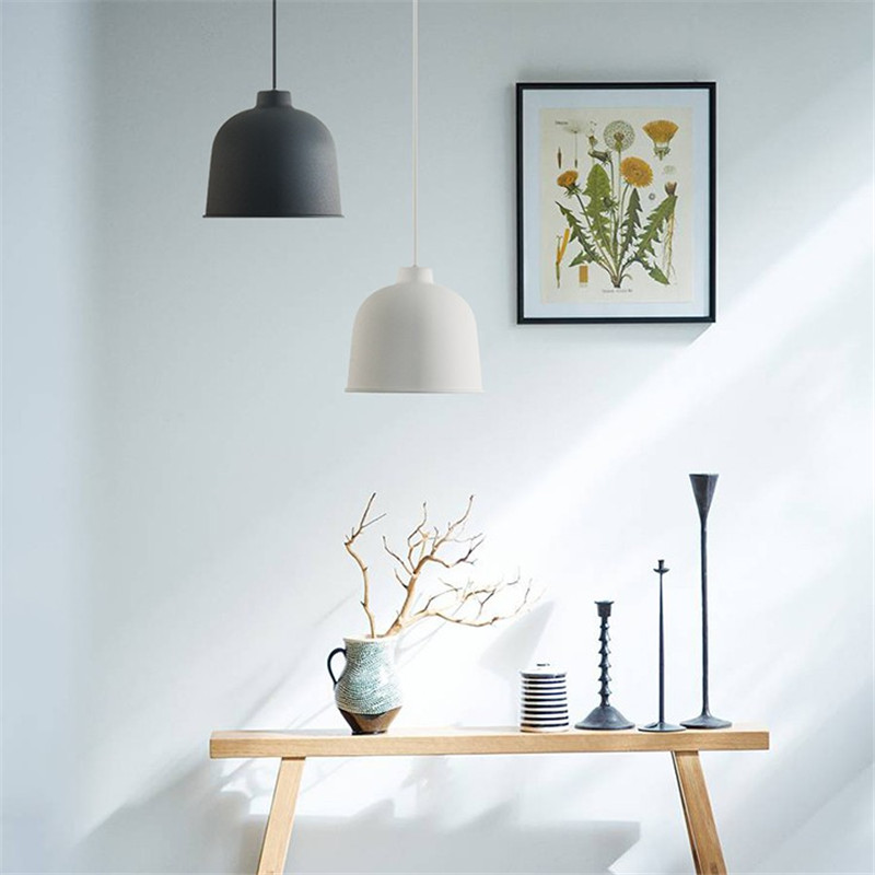 Nordic Loft Style LED Pendant Lamp Simple Modern Pendant Light Fixtures Dining Room Iron Hanging Droplight Deco Indoor Lighting