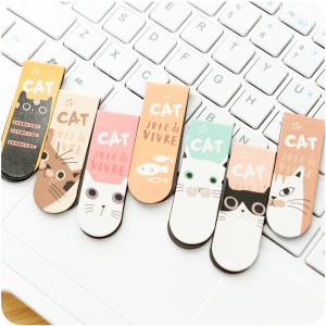 2 pcs/pack Various Lovely Cat Magnet Bookmark Paper Clip School Office Supply Escolar Papelaria Gift Stationery(China)