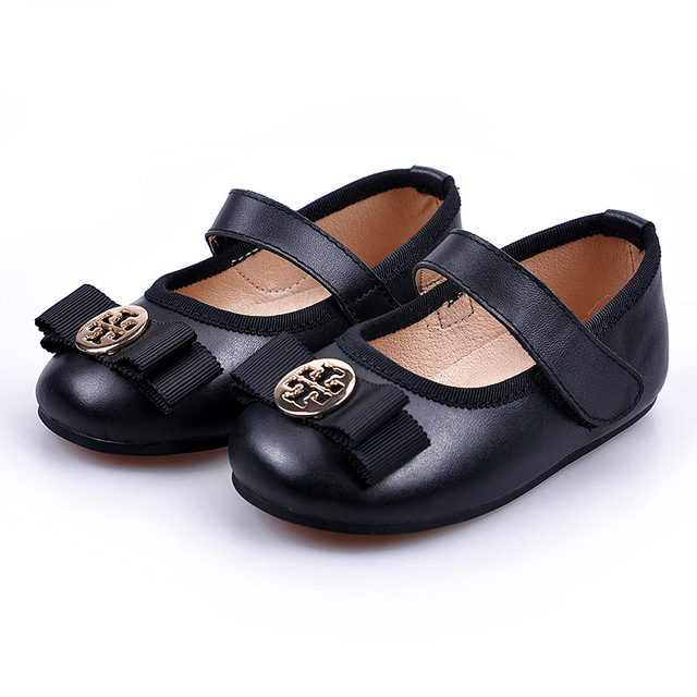 Black/Gold/Silver 2017 Baby Girl Princess Shoes Import Suede Genuine Leather Children Toddler First Walkers Soft Bottom Moccasin
