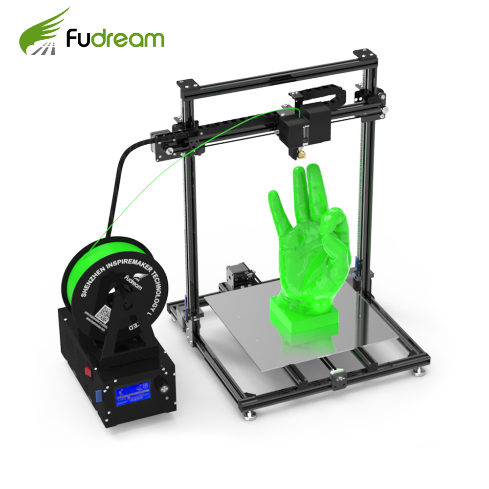 Auto leveling Version Fudream High Precision IM-3040 plus DIY 3d Printer Kit with Repetier-Host 3D Printing Software image
