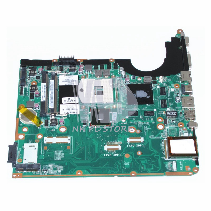 574902-001 For Hp Pavilion DV6 DV6-2000 DV6T-2000 Laptop Motherboard PM55 DDR3 DA0UP6MB6E0 GeForce GT230M Video Card 683029 501 683029 001 main board fit for hp pavilion g4 g6 g7 g4 2000 g6 2000 laptop motherboard socket fs1 ddr3