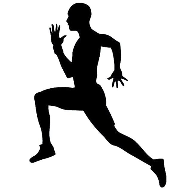 13cm 17 4cm Interesting Boy Sportsman Runner Silhouette