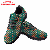 Forest Foxes Full Design Printed Lace up Comfortable Shoes For Girls Women Shoes Halloween Christmas gift