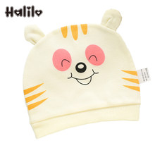 Halilo 100% Cotton Baby Cap Cartoon Newborn Baby Girl Boy Hat Infant Accessories Spring Summer Autumn Winter Boys Girls Hats(China)