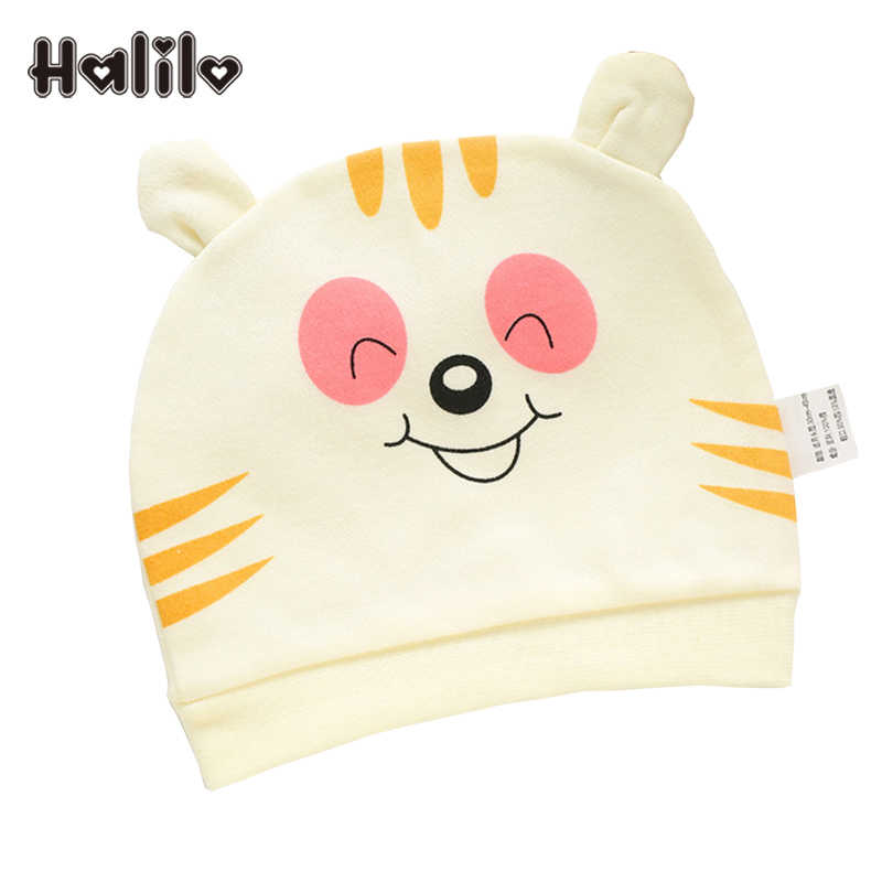 Halilo/Коллекция 100% года, детская шапочка из хлопка с героями мультфильмов, шапка для новорожденных девочек и мальчиков, Аксессуары для младенцев, шапки для мальчиков и девочек на весну, лето, осень, зиму