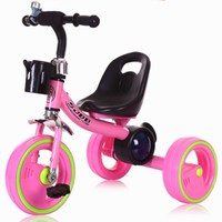 Flash Wheels Children Tricycle Bicycle Baby Trolley Buggy 1 3 6 Year Old Tricycle for Kids Baby Stroller 3 Wheels Bike Stroller