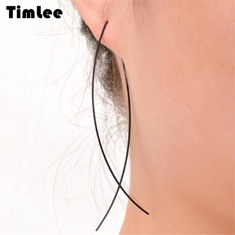 Timlee E171  Free Shipping  Personality Contracted Geometry Stud Earrings Wholesale .