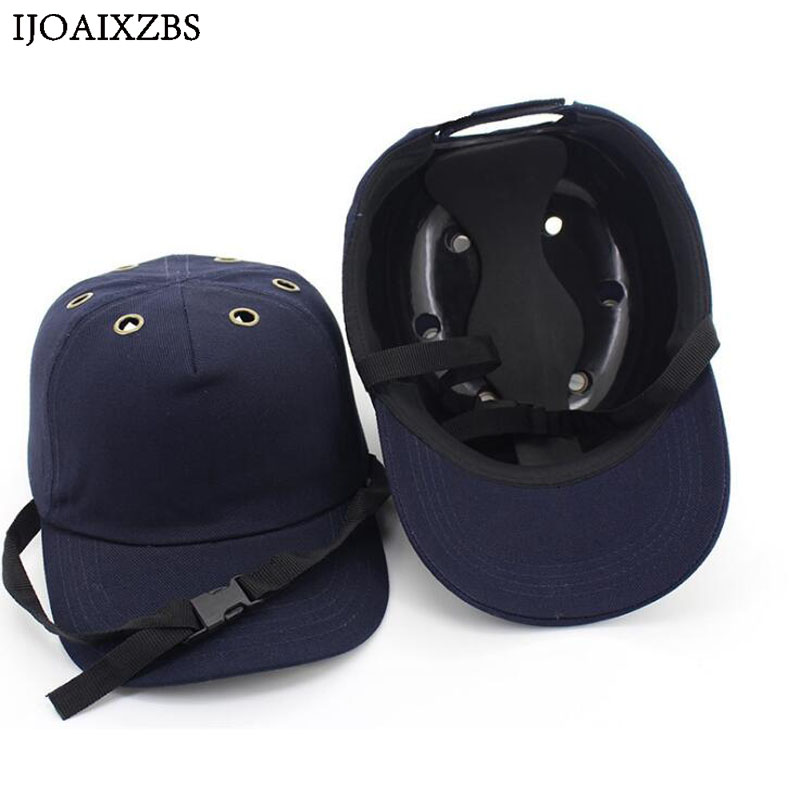 цена на Bump Cap Work Safety Helmet ABS Inner shell Baseball Hat Style Protective Hard Hat For Workwear Head Protection Top 6 Holes
