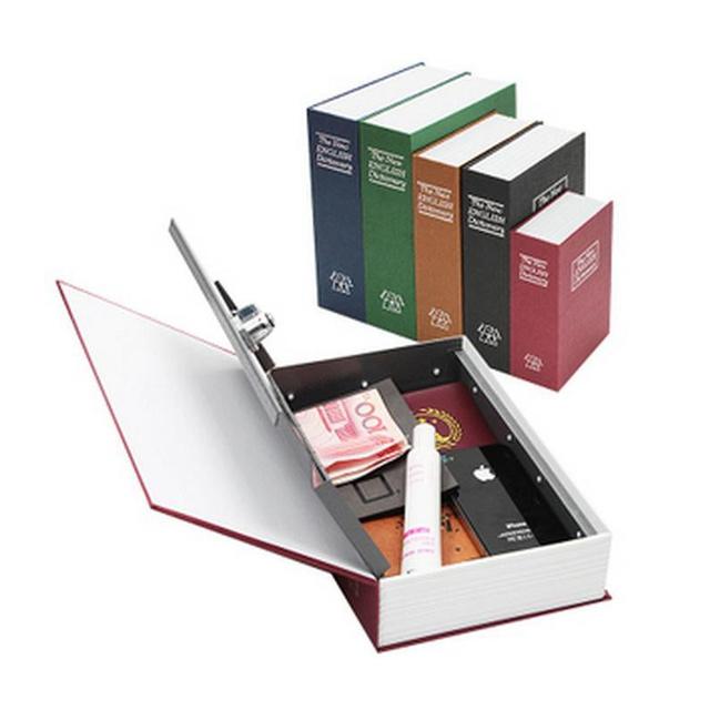 2016 Banco de Metal Piggy Criativo S M L Tamanho Inglês Dicionário Dinheiro caixa de Armazenamento Caixa de Armário com Chave Secreta Dinheiro Caixa De Moeda 4 Cores