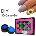 Saviland DIY Painting Gel 3D Fingernails Nail Art Paint Drawn 12 Colors Acrylic Creative Stylish Pattern Manicure Set