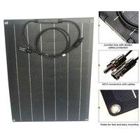 Flexible Solar Panel 30w 12VDC ETFE Film Coating Monocrystalline Solar Cell for Outdoor Camping Emergency Light Waterproof