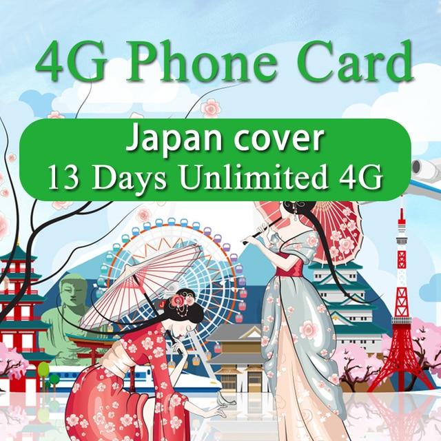 Japan Sim Karte.Us 32 28 Japan Sim Karte 13 Tage Unbegrenzte 4g High Speed Plan Mobile Telefon Docomo Karte 3 In 1 Travel Sim Karte Nur Für Japan In Japan