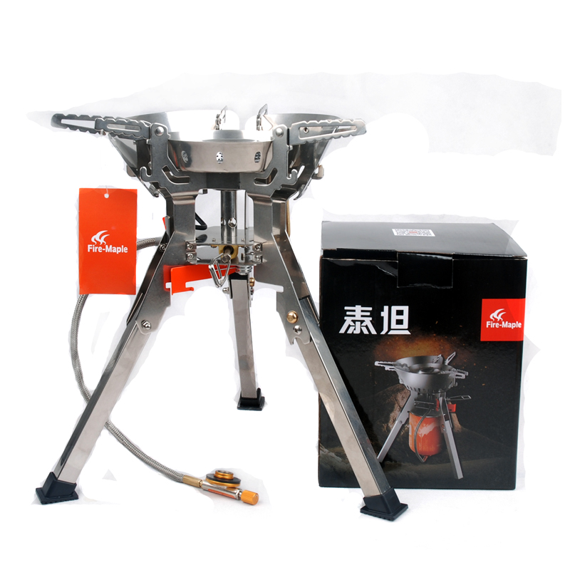Fire maple Titan Camping Stove High power Stove for Outdoor Hiking Picnic Titan 108 The big fire 4000W fire maple sw28888 outdoor tactical motorcycling wild game abs helmet khaki