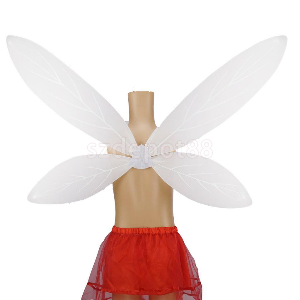 White Angel Wing Fairy Wing Costume Fancy Party Accessories for Girls Kids