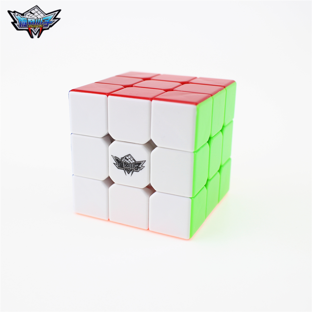 Cyclone Boys 3x3x3 Profissional Magic Cube Competition Speed Puzzle Cubes Toys For Children Kids cubo magico No Sticker Rainbow(China)