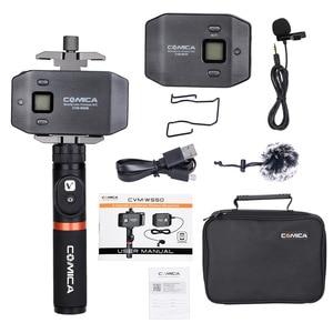 Image 5 - COMICA CVM WS50 () UHF ערוצים גריפ מרחוק מערכת מיקרופון Lavalier אלחוטי Smartphone עם Bluetooth עבור iPhone סמסונג