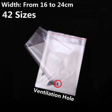 50 pcs 16 x 25 cm - 6.3 9.84  Promotion Price Transparent Plastic Bags