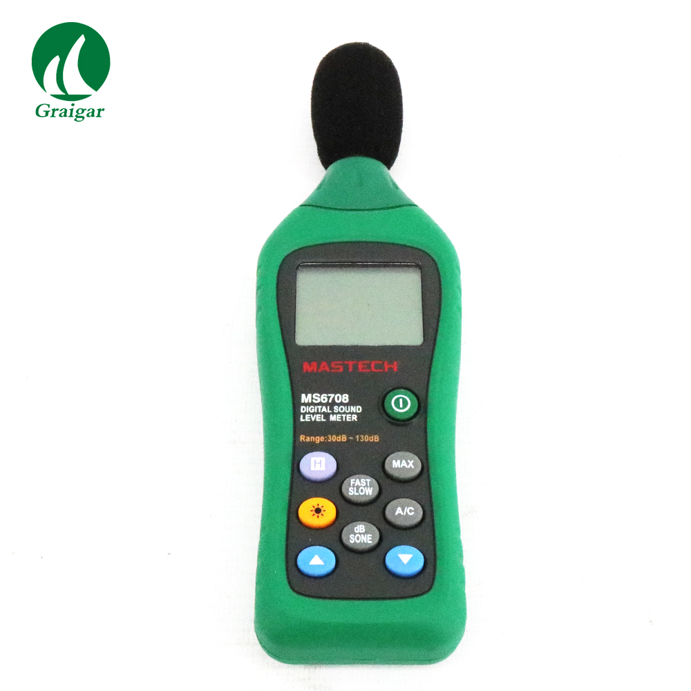 MS6708 Professional Mastech  Digital Sound Level Meters Meter with the backlight featureMS6708 Professional Mastech  Digital Sound Level Meters Meter with the backlight feature