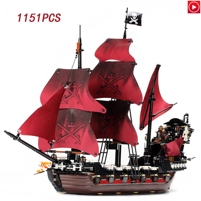 16009 Caribbean Queen revenge Pirates 16006 De Zwarte Parel 16018 Ghost Pirate Speelgoed Bouwstenen 4195 Jongen Gift-in Blokken van Speelgoed & Hobbies op  Groep 1