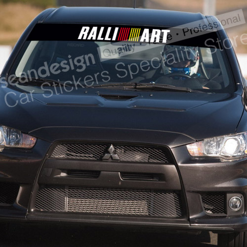 For mitsubishi ralliart windshield decal sticker pvc in car stickers from automobiles motorcycles on aliexpress com alibaba group