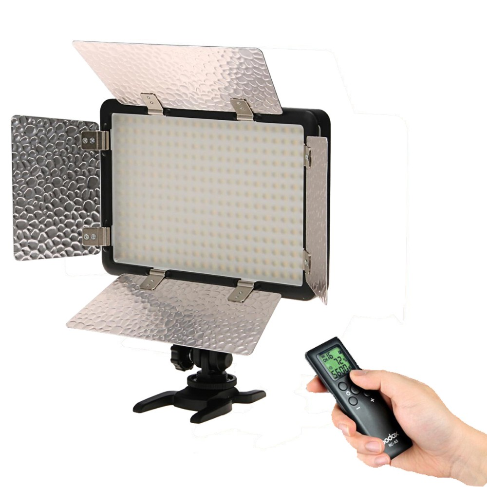 Godox 308C II Bi-Color LED Video Light 3300-5600K + Remote For Canon Nikon Camera Camcorder DV godox led 308y 308 leds professional led video 3300k light with remote control for canon nikon camera dv camcorder