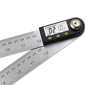 "Image 5 - 300mm 12 ""digital ângulo régua finder medidor transferidor inclinômetro goniômetro eletrônico ângulo calibre de aço inoxidável"