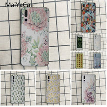 MaiYaCa garden leaves turquoise mint green New Personalized print Phone Case For Huawei honor 9 10 7s 8 p20 Cell phone case(China)