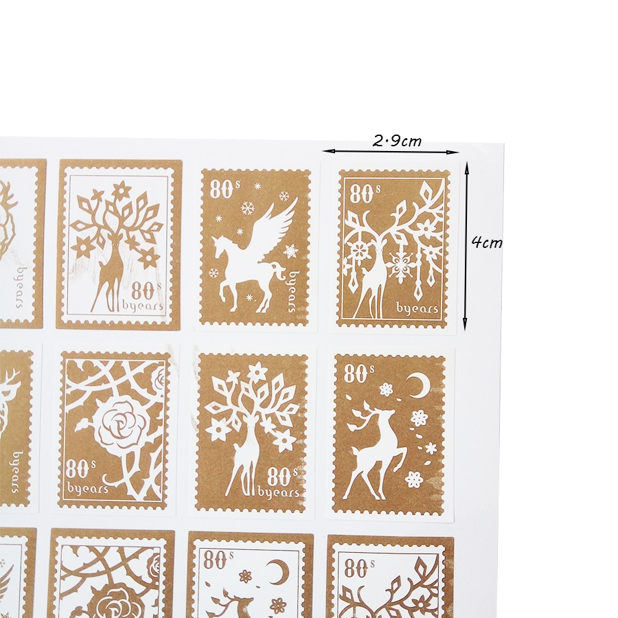 Купить с кэшбэком 150 Pcs/lot Girl And Deer Stamp Styling Seal Sticker DIY Multifunction Stickers Gift Packaging Seal Label Stickers Scrapbooking