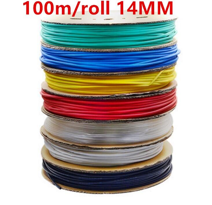 100m/roll 14MM Heat shrinkable tube heat shrink tubing Insulation casing 100m a reel 200m roll 3mm heat shrinkable tube heat shrink tubing insulation casing 200m a reel