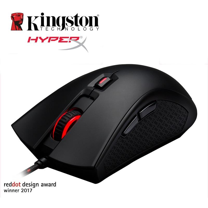 Kingston Gaming Maus HyperX Pulsefire FPS Mouse Gamer 400 800 1600 3200 DPI Ergonomic Professional gaming-mouse for PC Gamer kingston hyperx pulsefire fps professional gaming mouse 2017 new listing